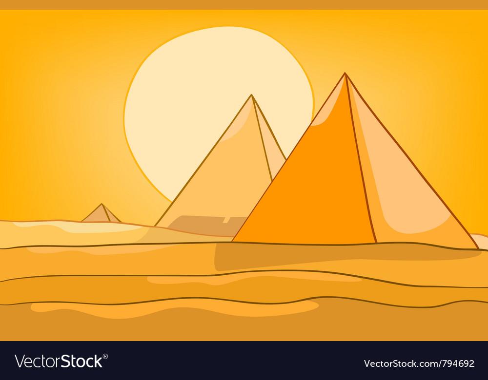 Cartoon landscape pyramid vector | Price: 1 Credit (USD $1)