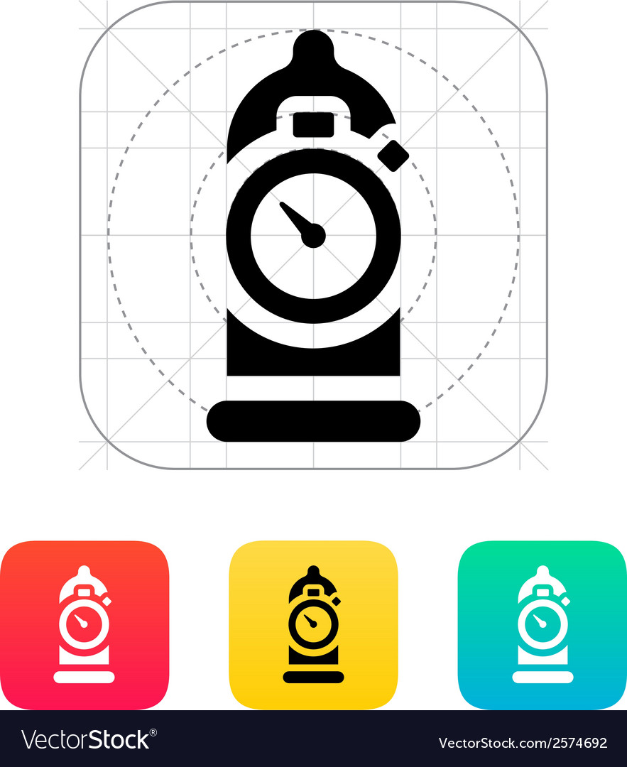 Condom with sex timer icon vector | Price: 1 Credit (USD $1)