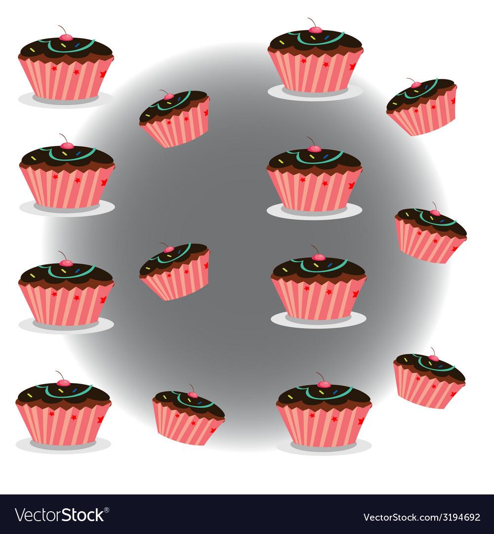 Cupcake set vector | Price: 1 Credit (USD $1)