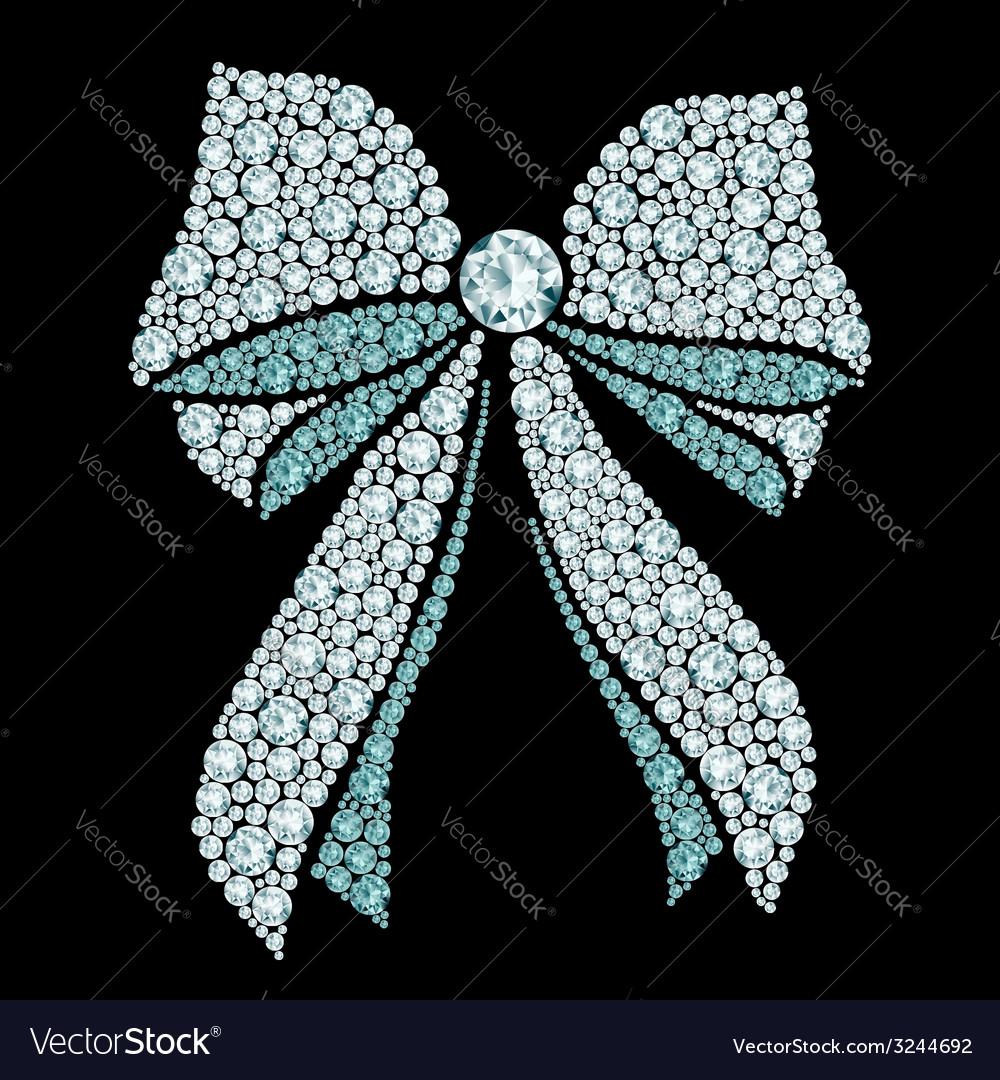Diamond bow composition vector | Price: 1 Credit (USD $1)