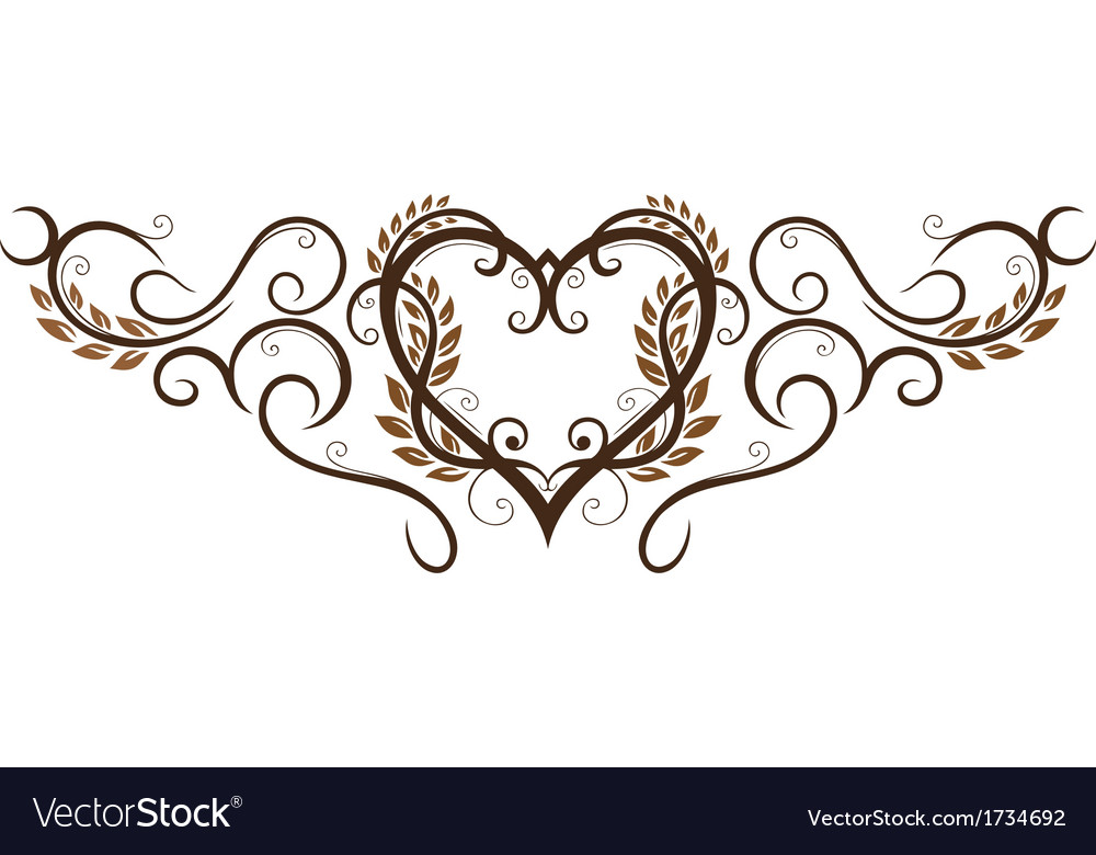 Grain corn heart vector | Price: 1 Credit (USD $1)