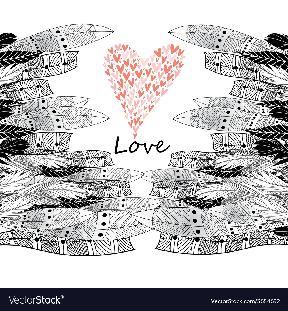 Greeting card with heart vector   Price: 1 Credit (USD $1)