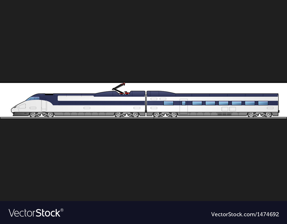 High speed train vector | Price: 1 Credit (USD $1)