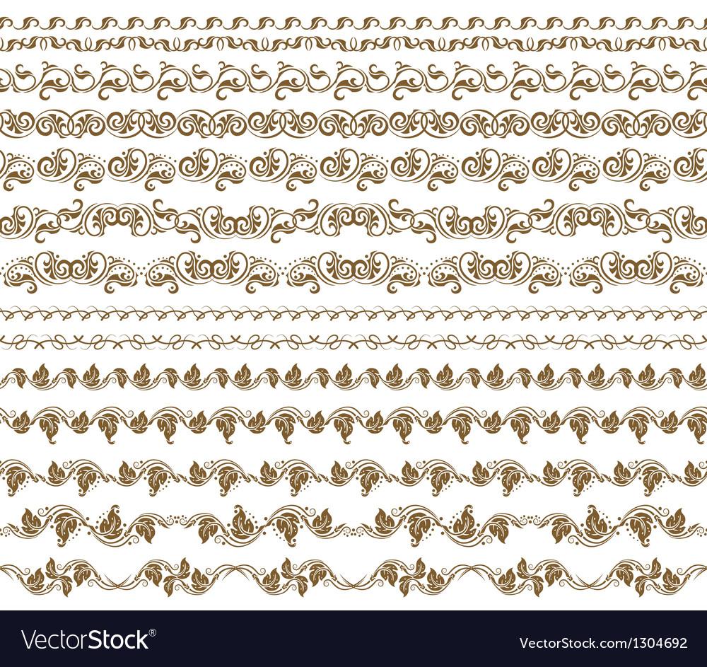Horizontal elements decoration vector | Price: 1 Credit (USD $1)