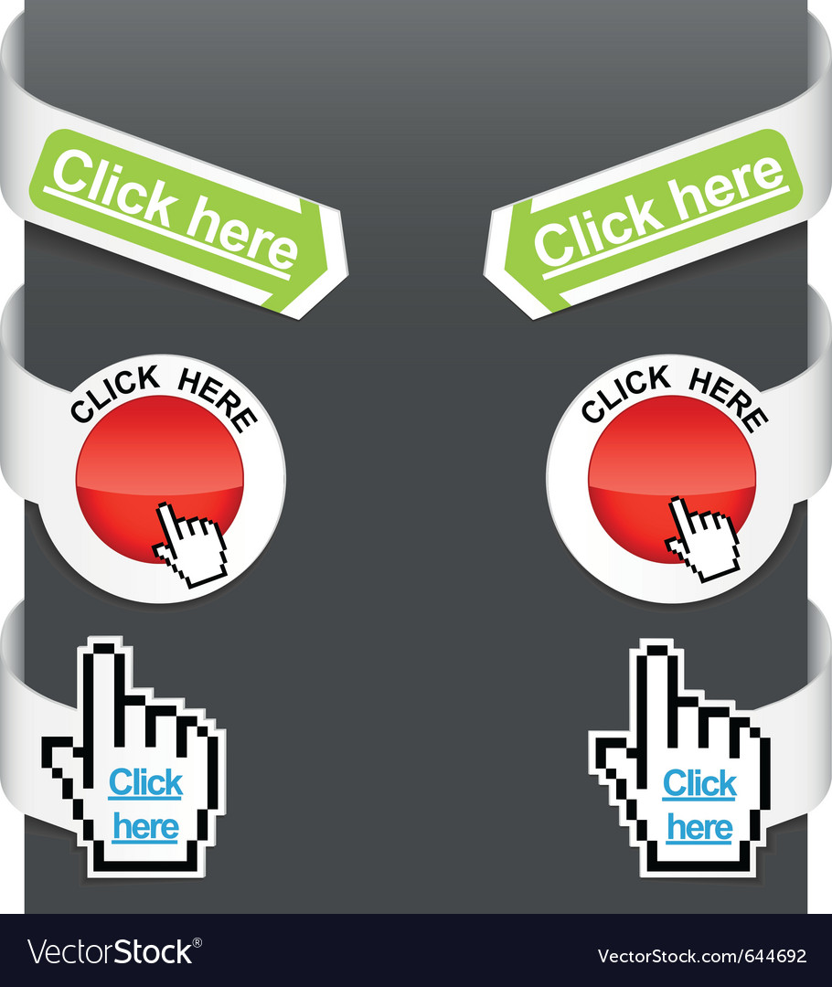 Left and right side signs - click here vector | Price: 1 Credit (USD $1)
