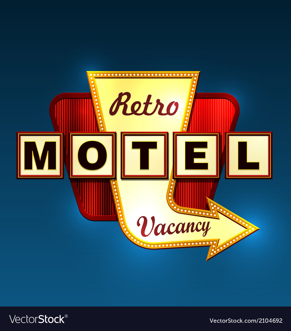 Motel roadsign vector | Price: 1 Credit (USD $1)