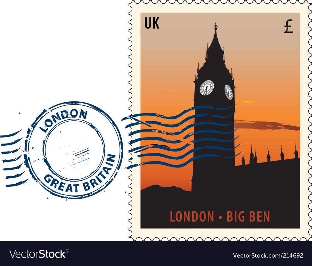 Postmark from london vector | Price: 1 Credit (USD $1)