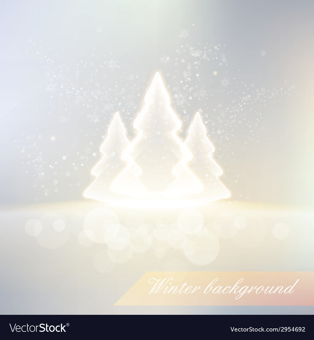 Shiny winter background vector | Price: 1 Credit (USD $1)