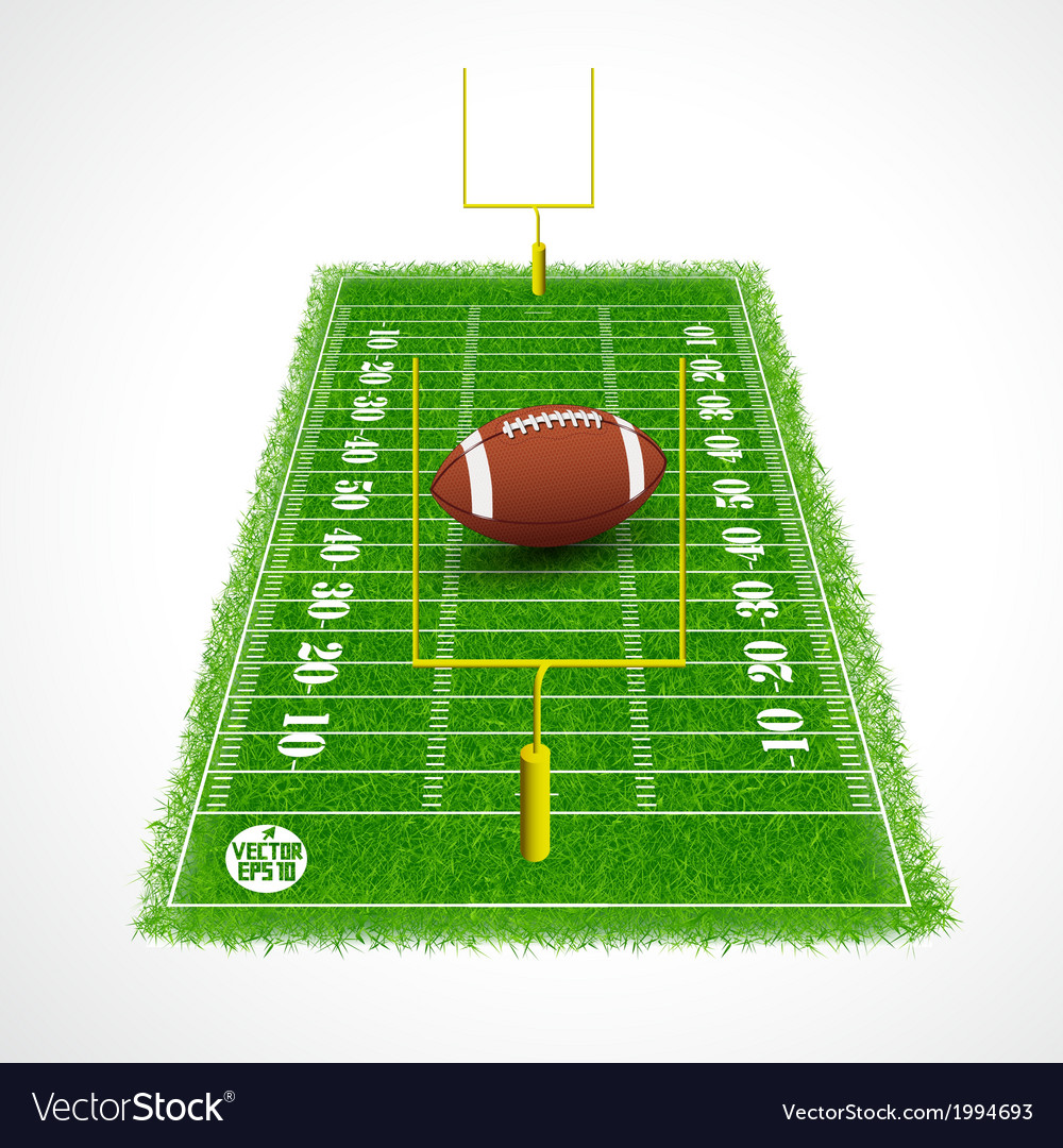 American football field perspective view vector | Price: 1 Credit (USD $1)