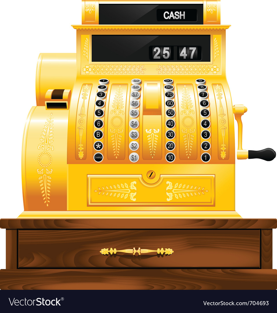 Antique cash register vector | Price: 1 Credit (USD $1)