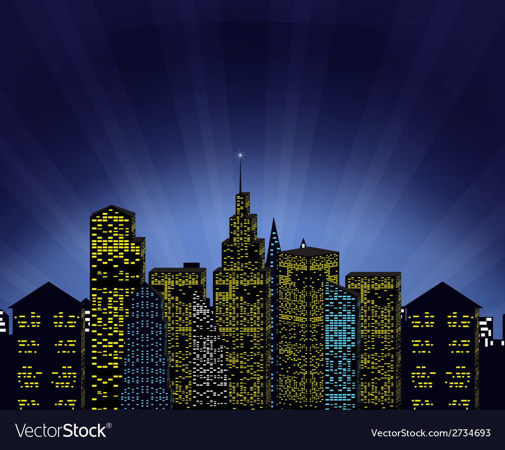 Cityscape and magic phenomenon vector | Price: 1 Credit (USD $1)
