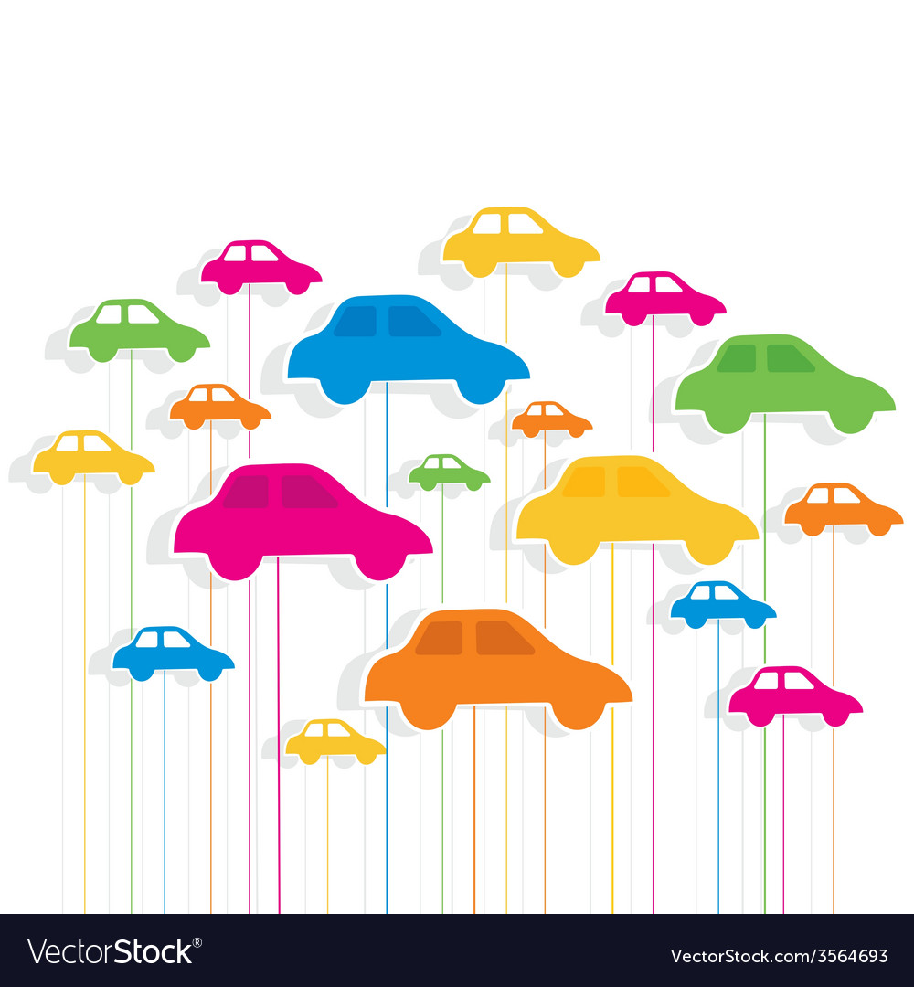 Colorful car pattern background vector | Price: 1 Credit (USD $1)