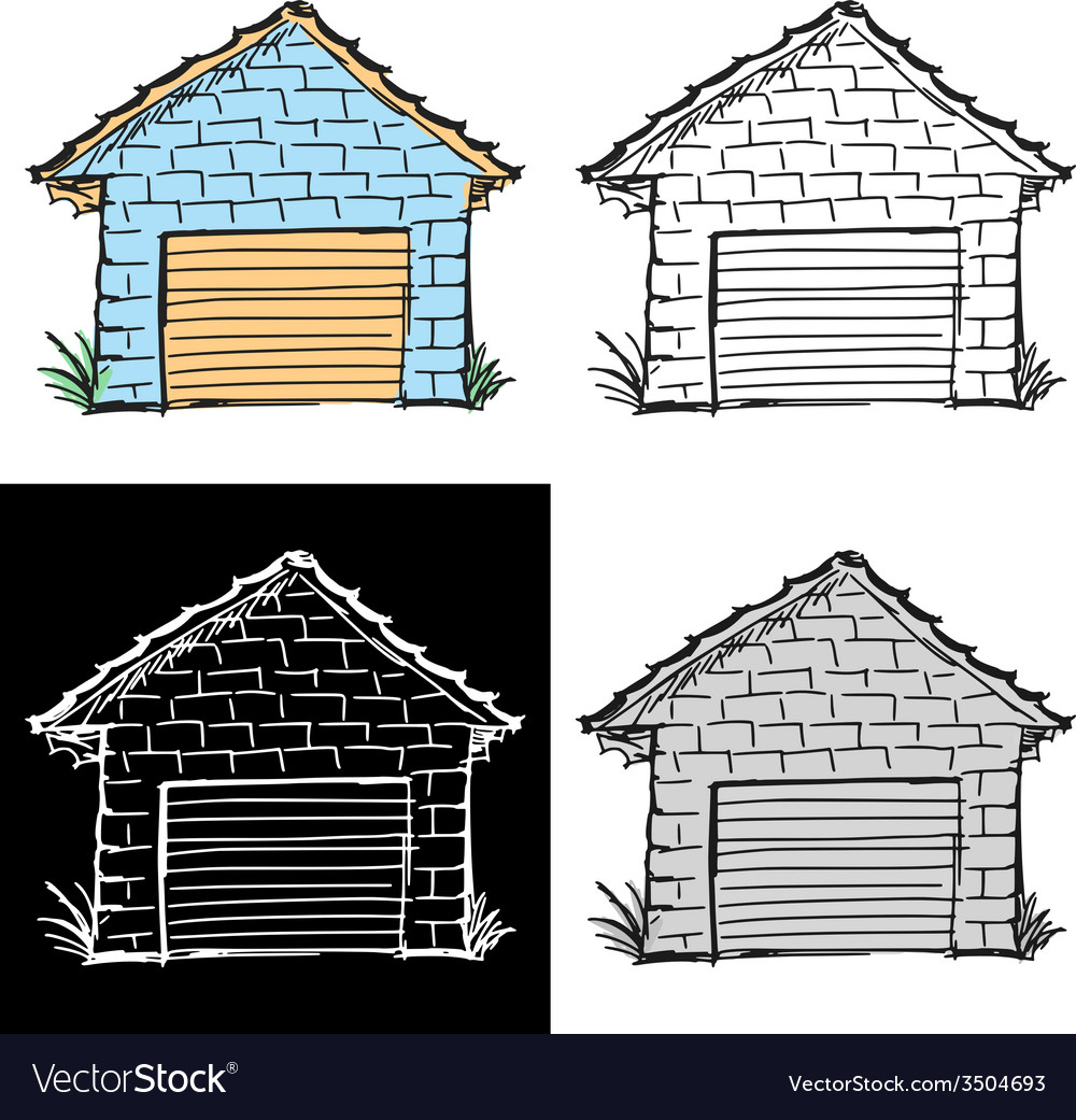 Garage vector | Price: 1 Credit (USD $1)