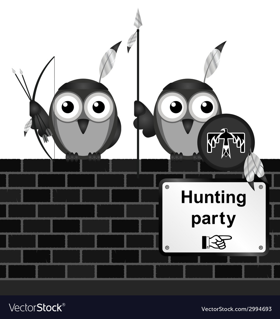 Hunting party vector | Price: 1 Credit (USD $1)