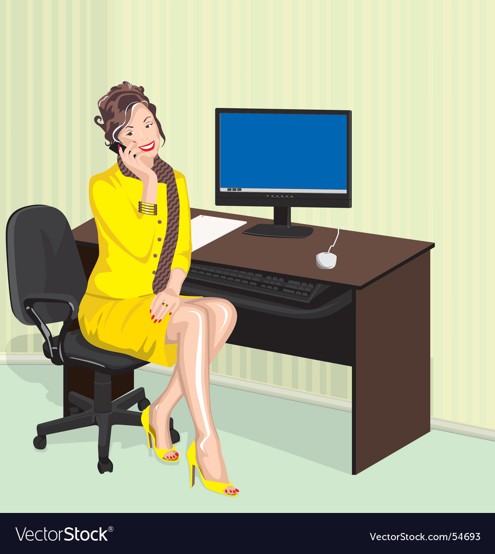 Office lady vector | Price: 5 Credit (USD $5)