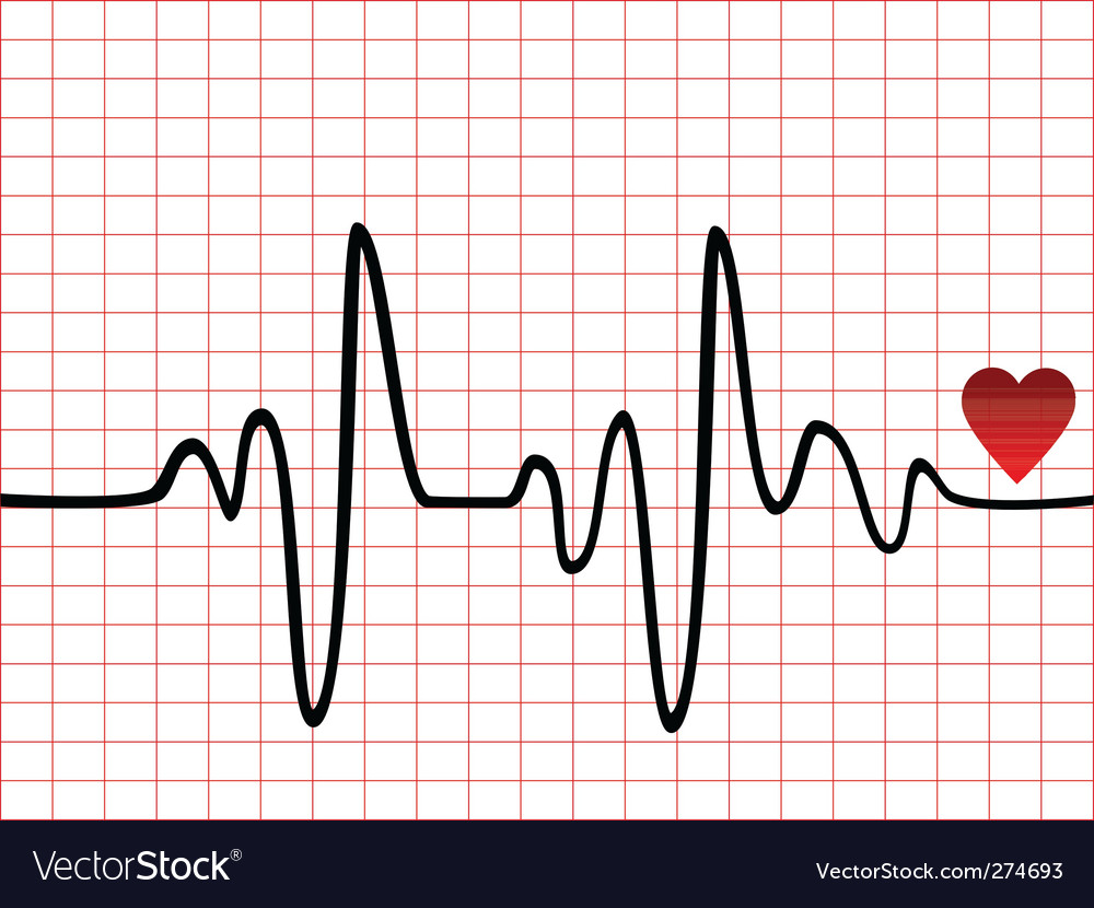 Pulse and heartbeat vector | Price: 1 Credit (USD $1)