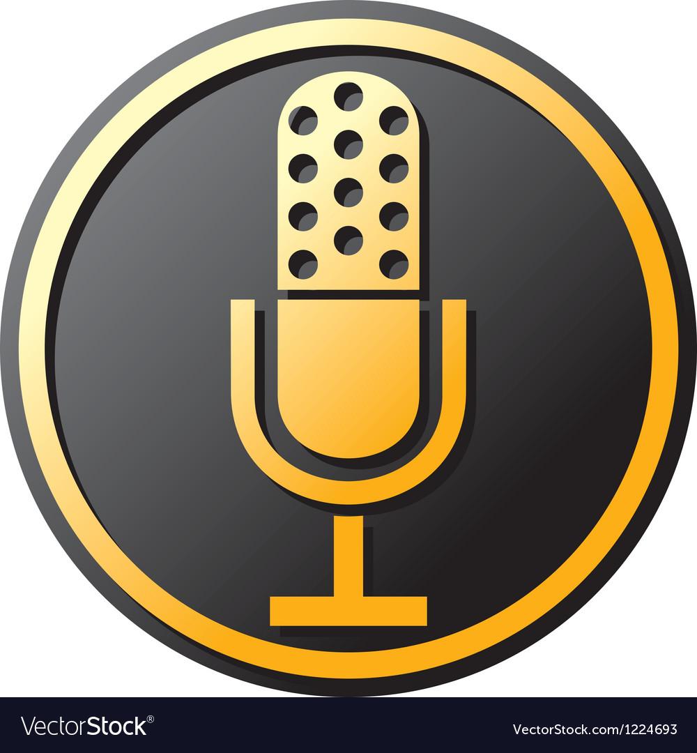 Retro microphone icon vector | Price: 1 Credit (USD $1)