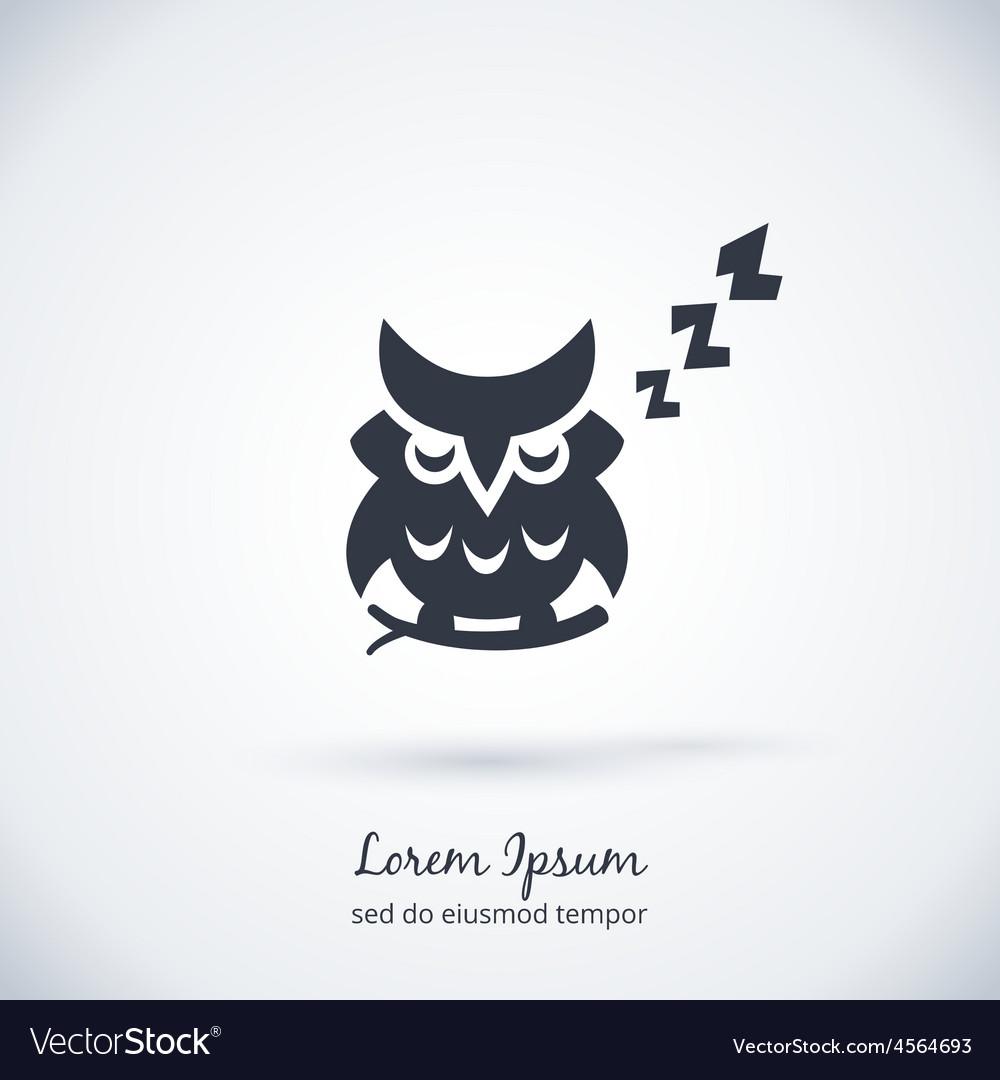 Sleeping owl logo dream concept icon vector