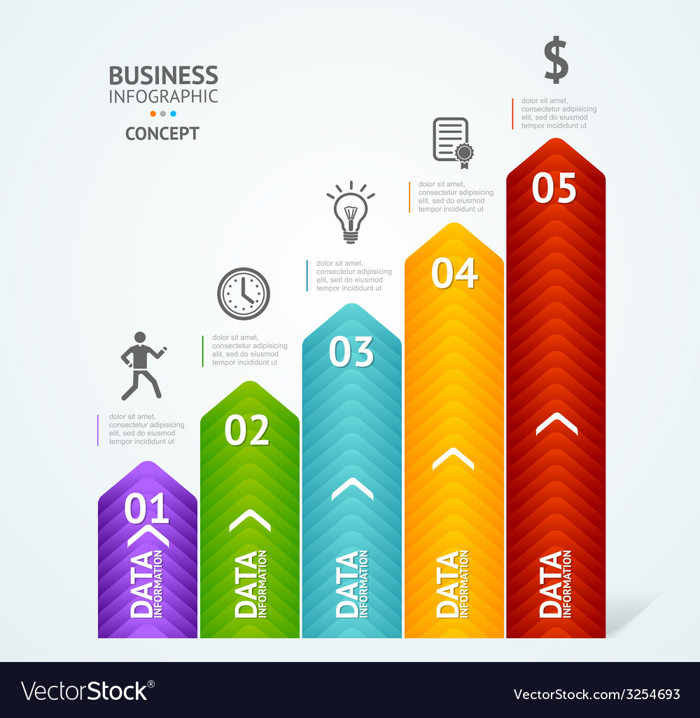 Step by step to success infographics vector | Price: 1 Credit (USD $1)