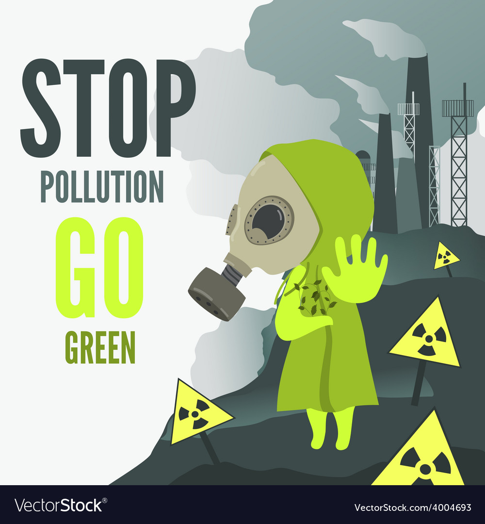 Stop environmental pollution vector | Price: 1 Credit (USD $1)