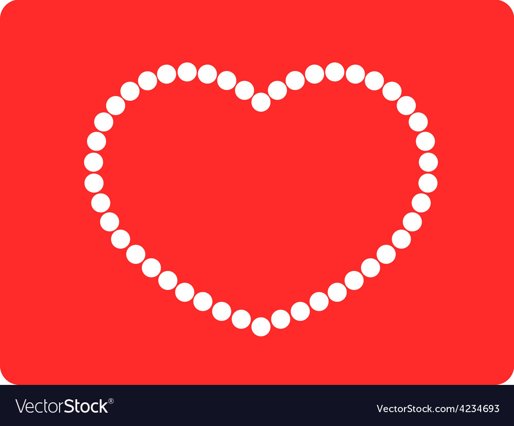 String of beads in heart shape vector | Price: 1 Credit (USD $1)
