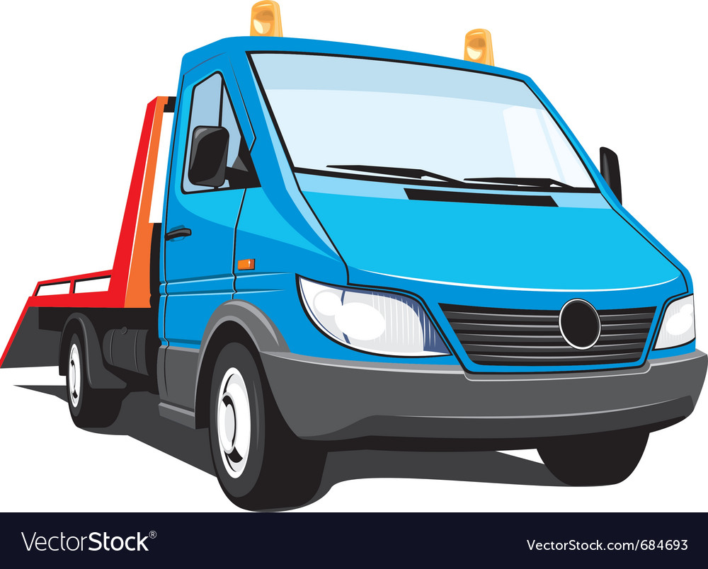 Tow truck vector | Price: 3 Credit (USD $3)