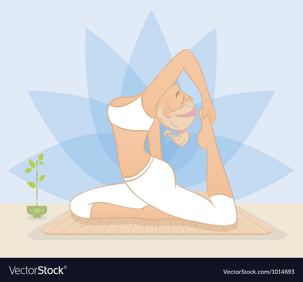 Yoga woman vector | Price: 3 Credit (USD $3)