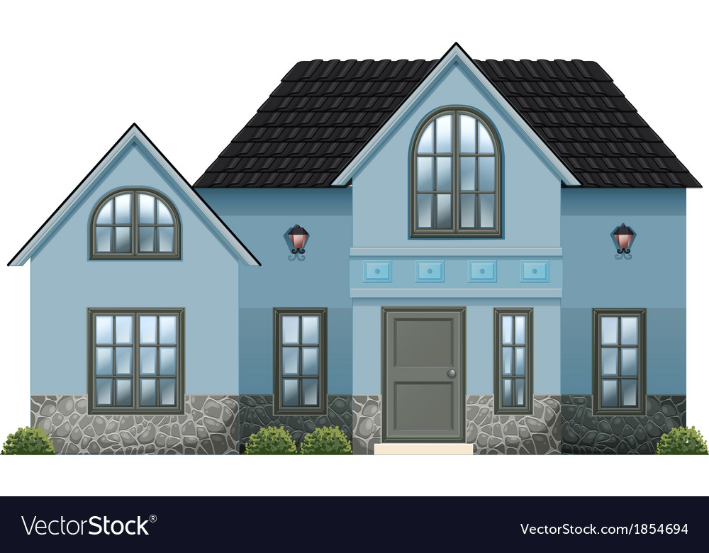 A big blue house vector | Price: 1 Credit (USD $1)