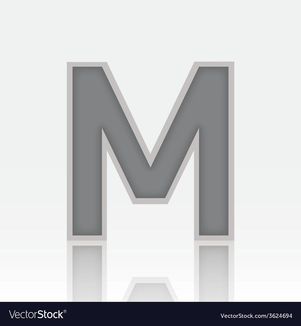 Alphabet m vector | Price: 1 Credit (USD $1)