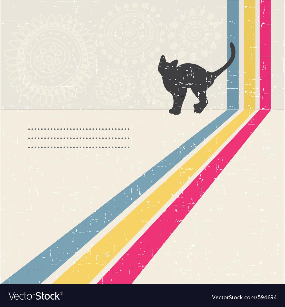 Cat card vector | Price: 1 Credit (USD $1)