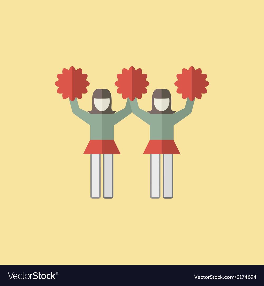 Cheerleader icon vector | Price: 1 Credit (USD $1)