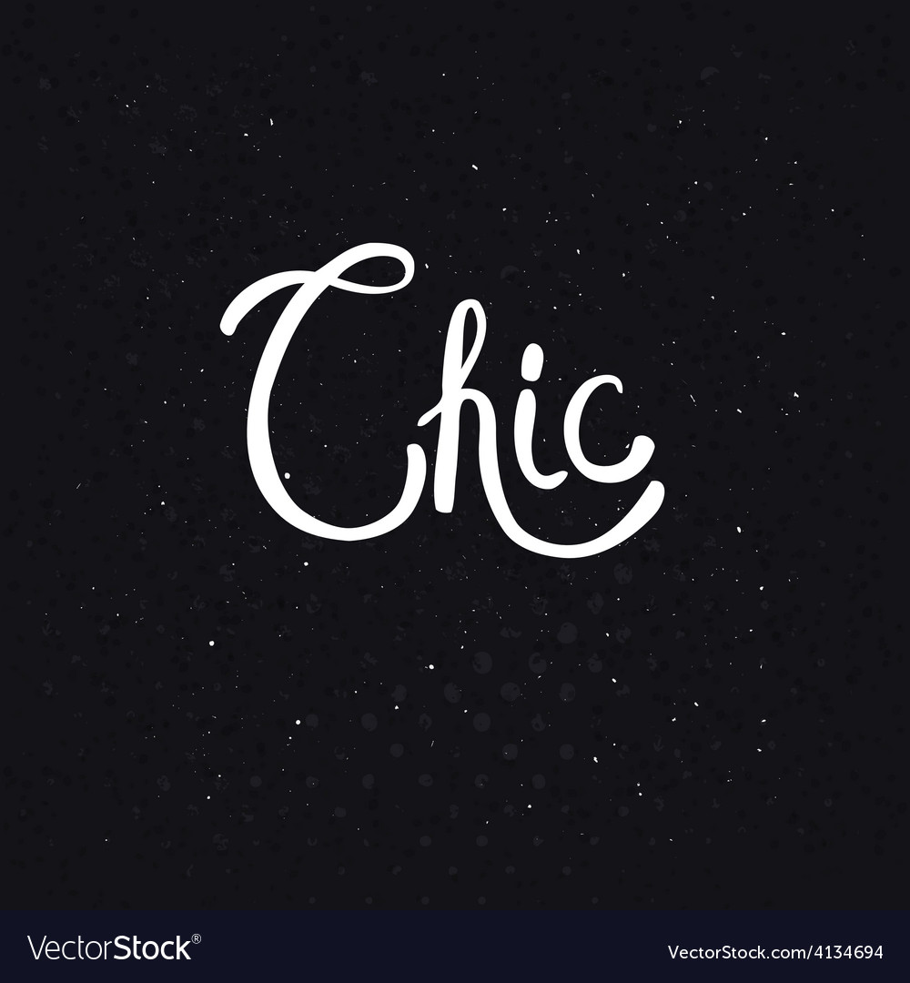 Chic text on dotted abstract black background vector | Price: 1 Credit (USD $1)
