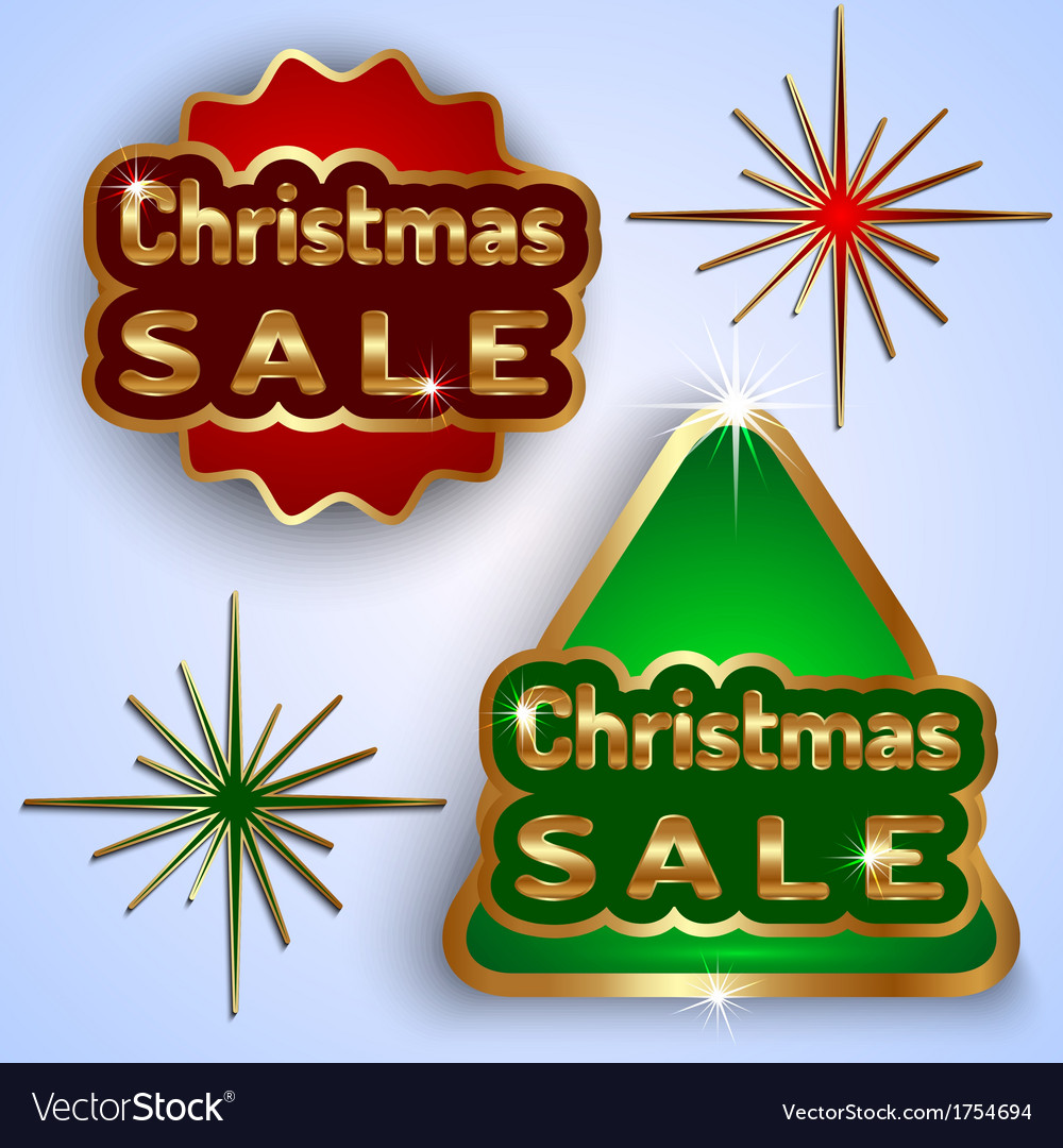 Christmas sale badges vector | Price: 1 Credit (USD $1)