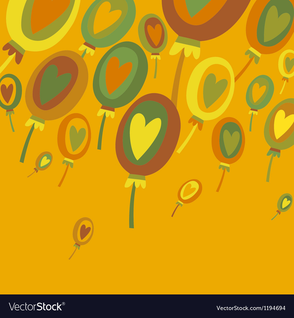 Colorful balloons abstract background vector | Price: 1 Credit (USD $1)