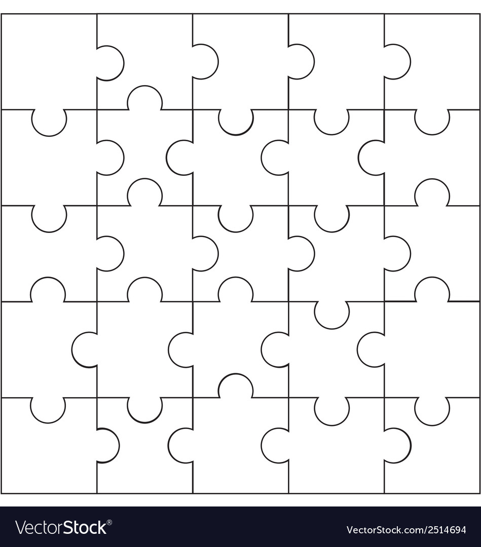 Design of jigsaw pattern vector | Price: 1 Credit (USD $1)