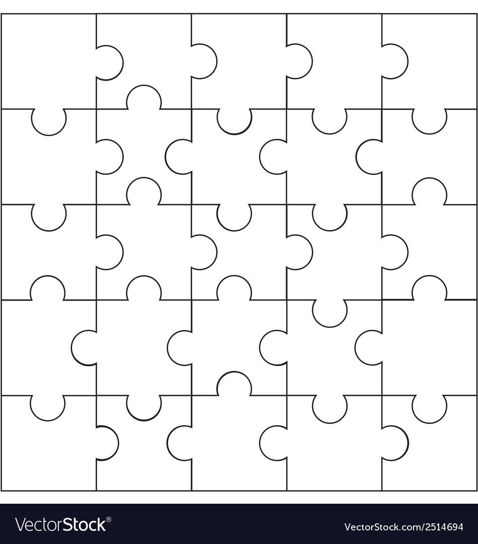 Design of jigsaw pattern vector | Price: 1 Credit (USD $1)