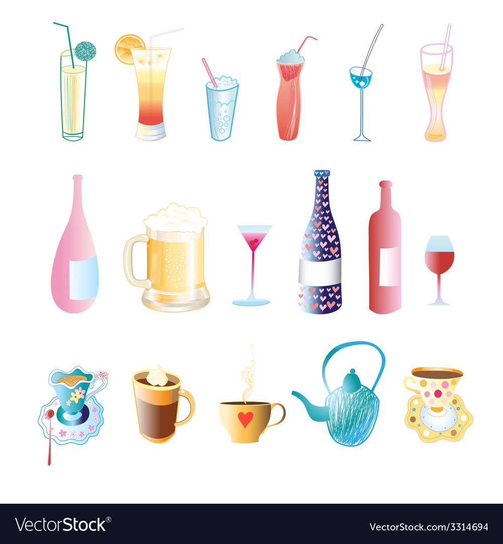 Different drinks vector | Price: 1 Credit (USD $1)