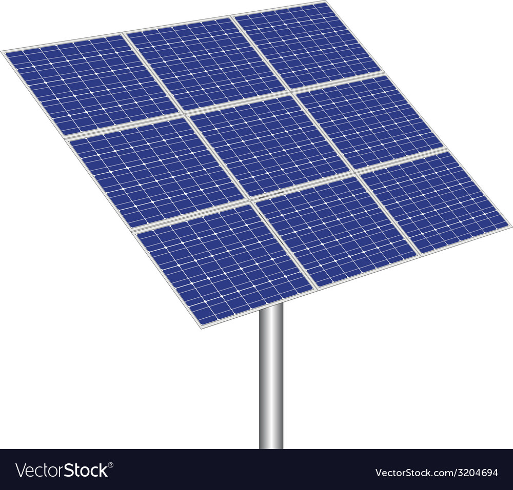 Photovoltaic panel vector | Price: 1 Credit (USD $1)