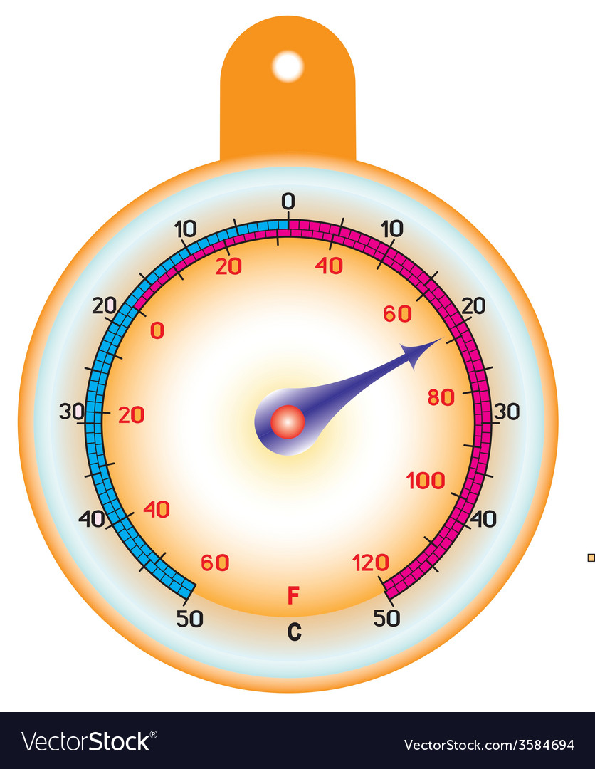 Round thermometer vector | Price: 1 Credit (USD $1)