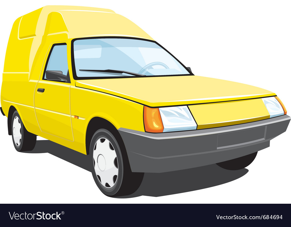 Yellow pickup vector | Price: 3 Credit (USD $3)