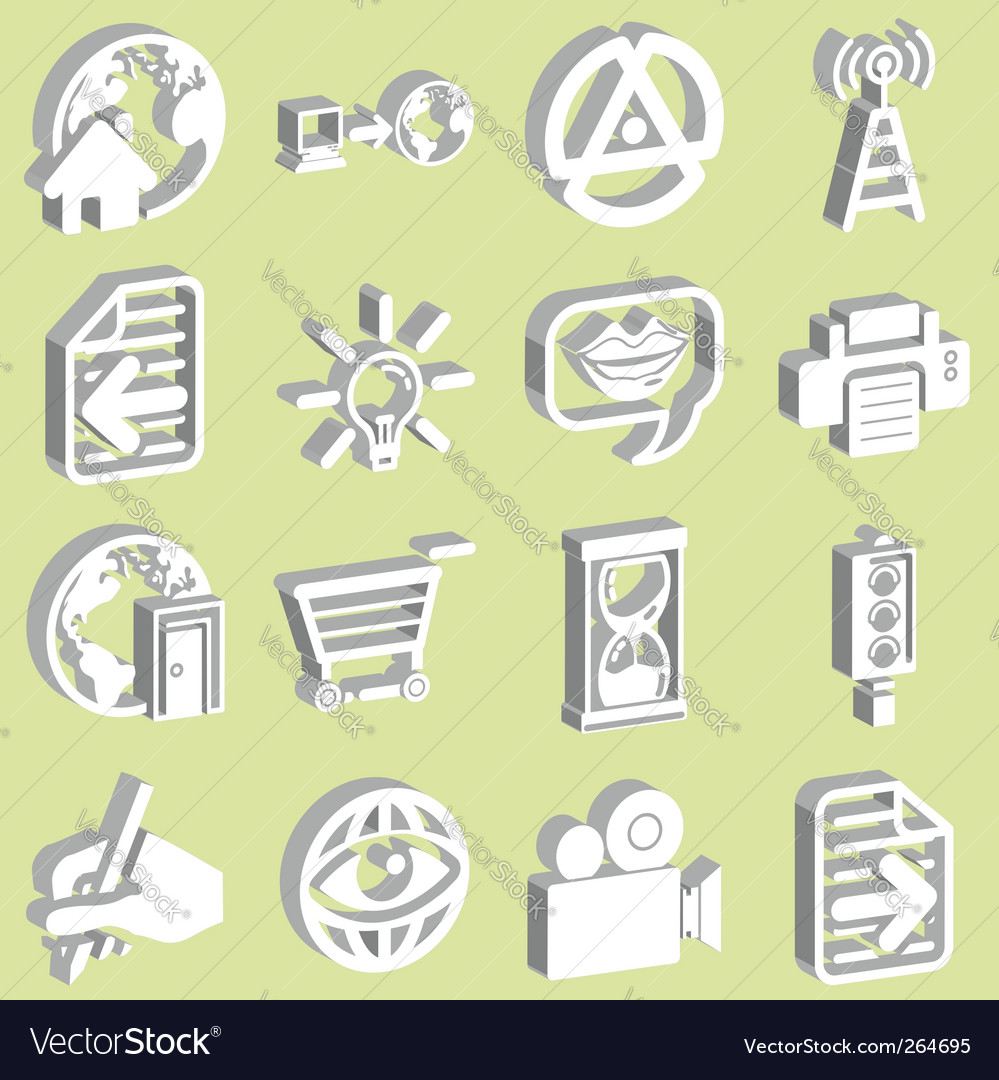 3d internet web icons vector | Price: 1 Credit (USD $1)