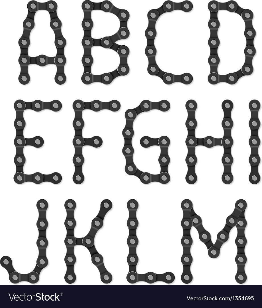 Bicycle chain alphabet vector | Price: 3 Credit (USD $3)