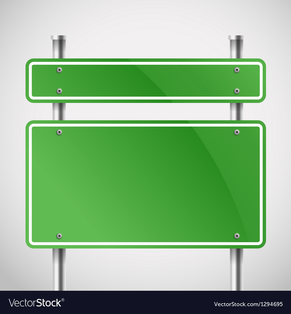 Blank green metal boards vector | Price: 1 Credit (USD $1)