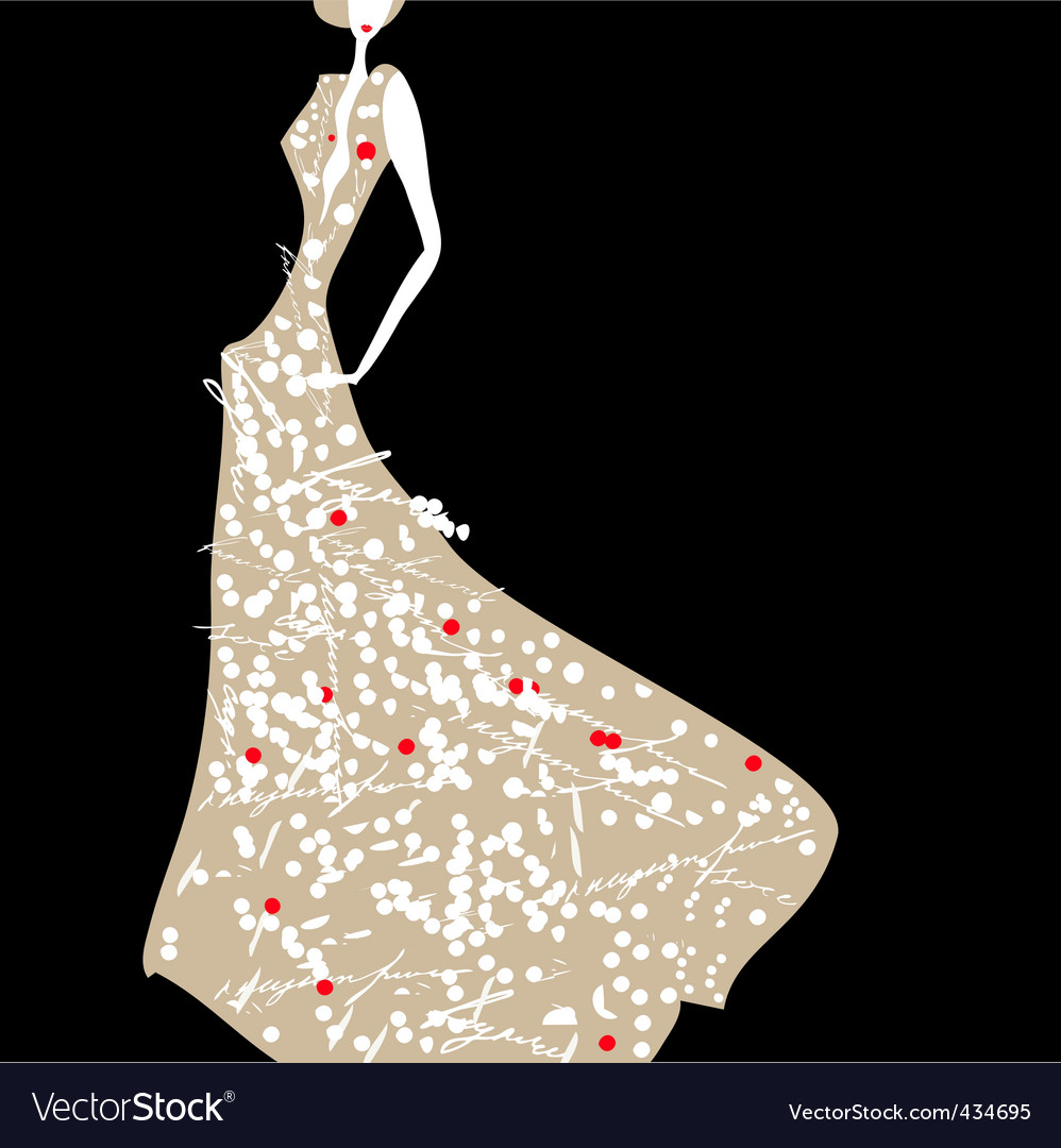 Card with woman vector | Price: 1 Credit (USD $1)