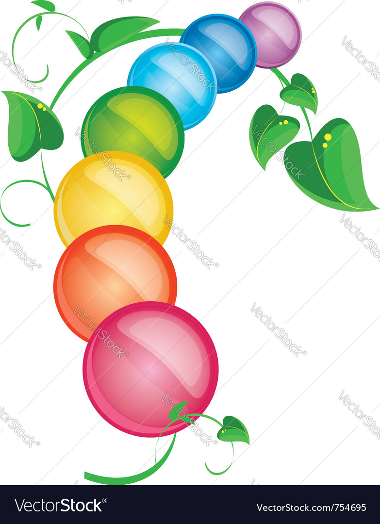 Colored pills with foliage vector | Price: 1 Credit (USD $1)