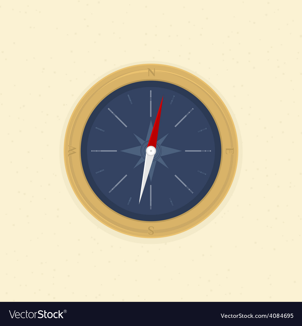 Compass on the sand vector | Price: 1 Credit (USD $1)