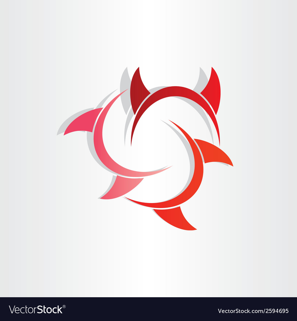 Devil horns abstract symbol vector | Price: 1 Credit (USD $1)