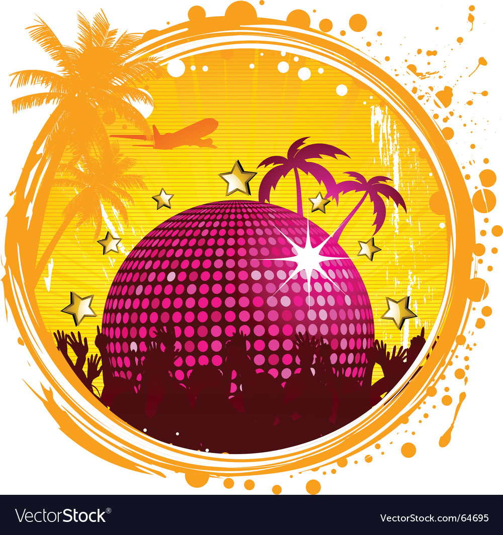 Grunge tropical party vector | Price: 1 Credit (USD $1)