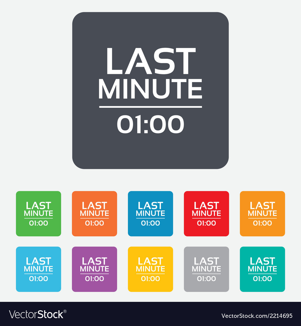 Last minute icon hot travel symbol vector | Price: 1 Credit (USD $1)