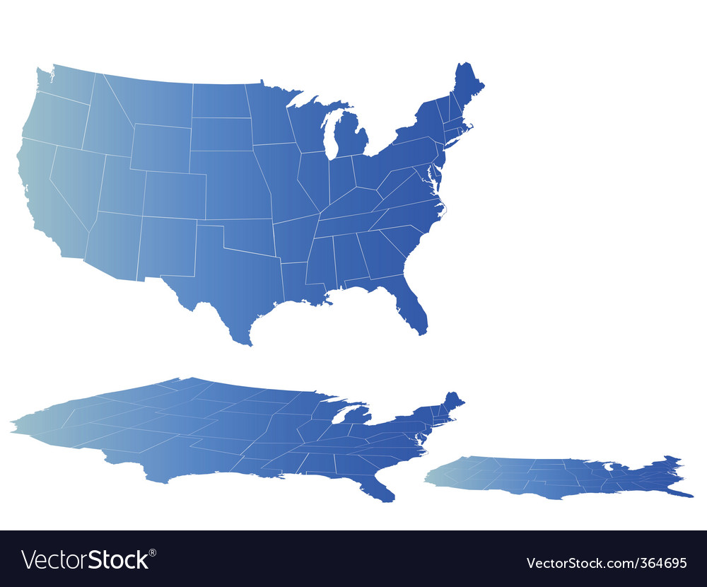 Map of america vector | Price: 1 Credit (USD $1)